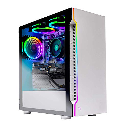 Skytech Archangel Gaming Computer PC Desktop – RYZEN 5 2600 6-Core 3.4 GHz, GTX 1660 6G, 500GB SSD, 16GB DDR4 3000MHz, RGB Fans, Windows 10 Home