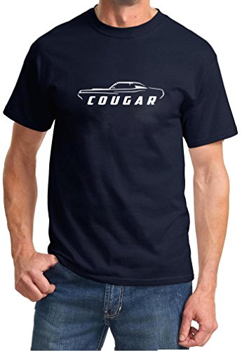1970 Coupe - 1969 1970 Mercury Cougar Coupe Classic Outline Design Tshirt large navy blue