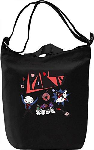 Party Hard Borsa Giornaliera Canvas Canvas Day Bag| 100% Premium Cotton Canvas| DTG Printing|