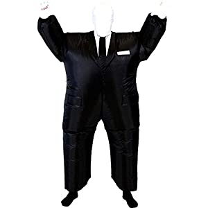 costume agent chub suit inflatable blow up not so slenderman slender man jumpsuit costume - Halloween Costume Slender Man