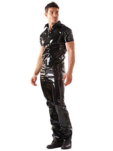 sexy corte Negro Vaquero tallas clási1P502LbYsw las de Fetiche PVC todas Negro qx6pSOB