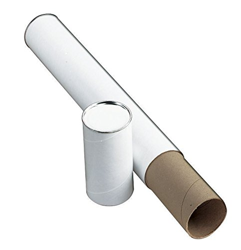 Alvin, Kraft Fiberboard Mailing Tube, Carrying Case Holder for Posters, Charts, Documents - White, 3-inches x 25-inches