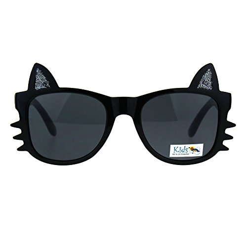 Girls Sunglasses Kitty Cat Whiskers Ears Frame Kid's Fashion UV 400 - Kitty Cat Sunglasses