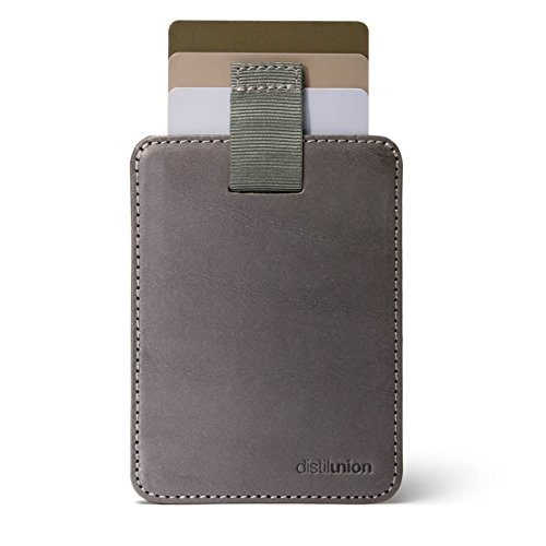 - Distil Union Wally Sleeve Genuine Leather Slim Wallet & Credit Card Holder (Slate with Flexlock)