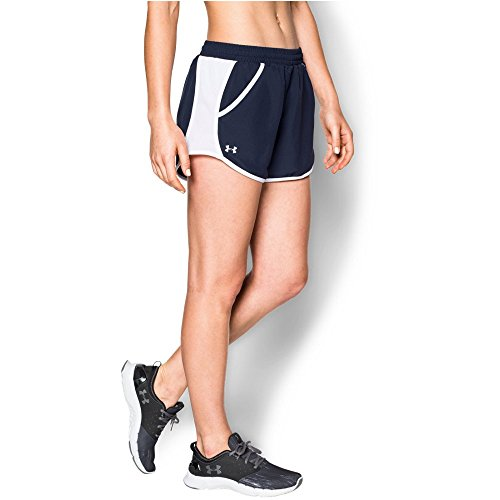 Under Armour Women's Fly-By Run Short, Midnight Navy/White, Large