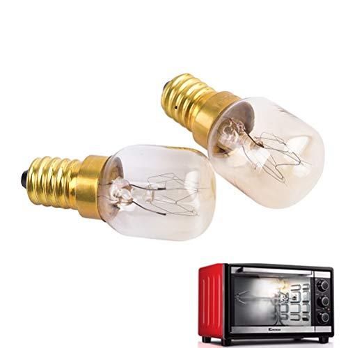 (BIN BON - New 220v - 240v High temperature 15W / 25W / 300 Degree SES E14 OVEN toaster/steam LIGHT BULBS/COOKER HOOD LAMPS)