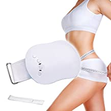 Micrael Home Rechargeable Abdominal Slimmer Vibration Slimming Belt Fitness Massage Wrap for Men and Women to Lose Weight, Trim Body, Vibrate Waist, Burn Belly Fat, Tone Muscles