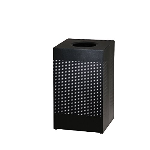 - Rubbermaid Commercial Silhouettes Trash Can, 40 Gallon, Black, FGSC18EPLTBK