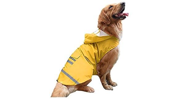 JYJM Pet Dog - Chaleco Cortavientos Impermeable para Perros con ...