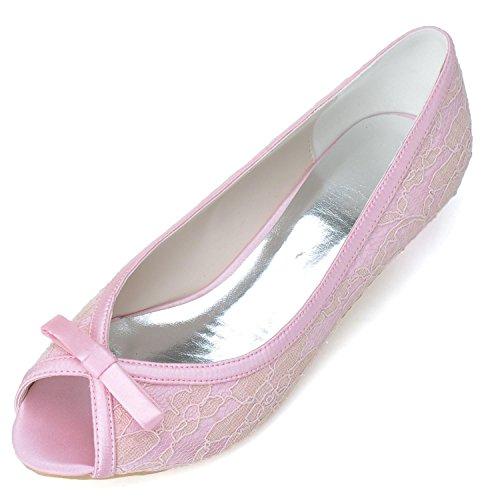 D'Onore Pink Prom 08 Wedding Scarpe da BT0700 Satin Damigella Elobaby Bridal Womens wnPxvpqCOZ