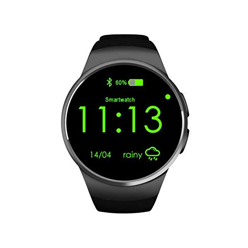 lightclub KW18 1.3inch Call Answer Pedometer Heart Rate Monitor Bluetooth Smart Watch - Black