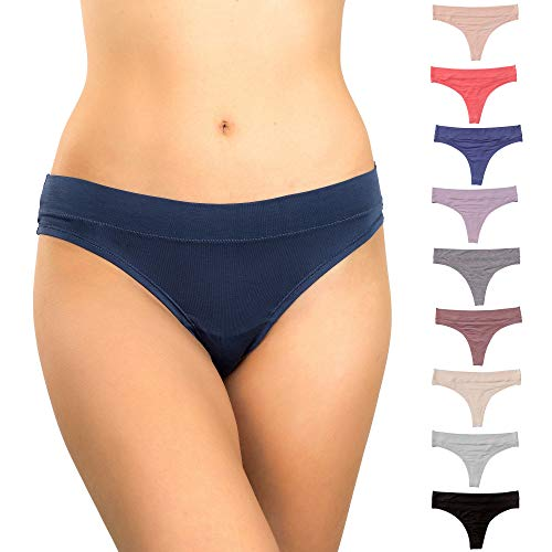 Alyce Intimates Womens Thong Panty, Pack of 10