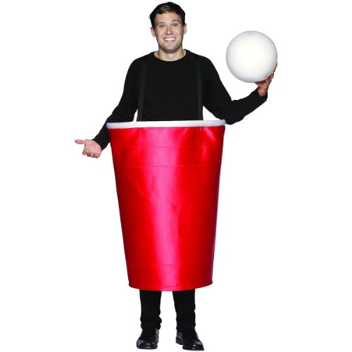 [Rasta Imposta Beer Pong Cup Costume, Red, One Size] (Official Halloween Costumes)
