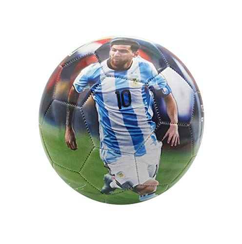 Superstar Soccer Ball Size 5 Best Gift for Soccer Training Cristiano Ronaldo Portugal Juventus Leo Messi Barcelona Neymar Jr Brazil Italy England