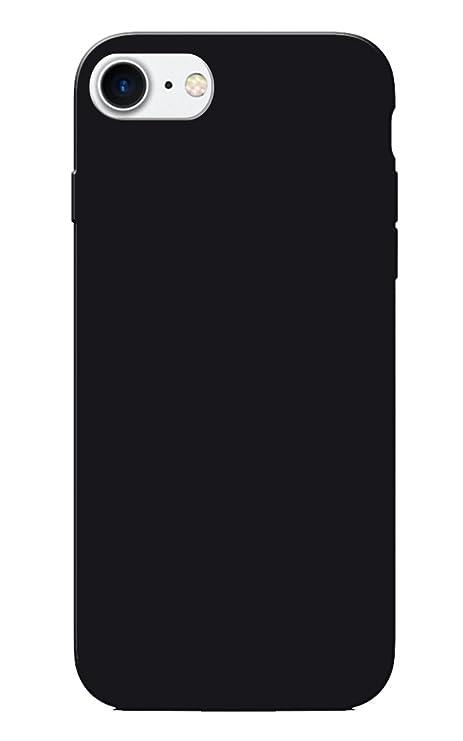 pretty nice d58fe 6d794 iPhone 7 Case, Plain Black Slim Fit Hard Case Cover: Amazon.in ...
