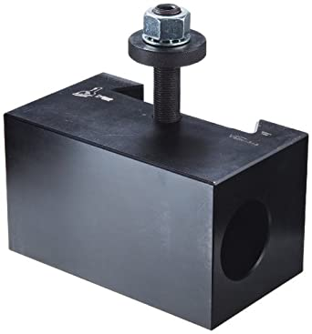 """Dorian Tool V5 Victory Thru Coolant Chromium Molybdenum Alloy Steel Quick Change Morse Taper Toolholder for V60TC Automatic Thru Coolant Tool Post, MT5, 3-31/64"""" Height"""