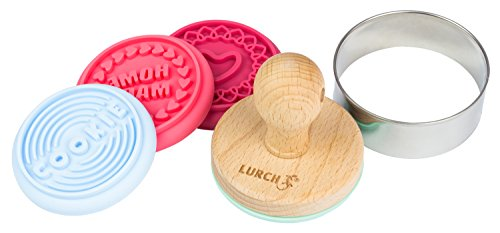 Lurch Germany Cookie Stamps Set of 6,Blue/Green/Pink