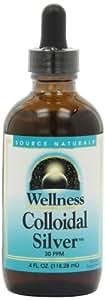 Source Naturals Wellness Colloidal Silver, 30 ppm, 4 Ounce