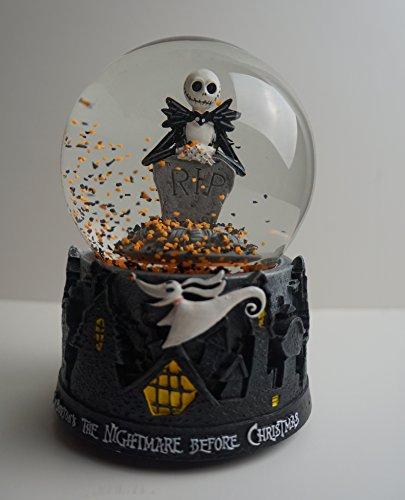 Disney's / Tim Burton's the Nightmare Before Christmas Jack Skellington Musical / Self Blow Snow / Water (Halloween Movie Snow Globe)