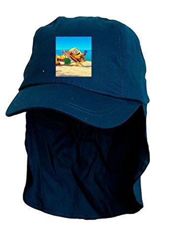Kids Bleu Minion soleil Bonnet style Légionnaire. Taille unique.