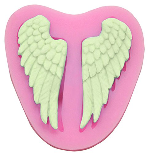 C-Pioneer Lovely Silicone Fairy Wings Baker Sugar Embossing Craft Mould Maker Pastry Tool
