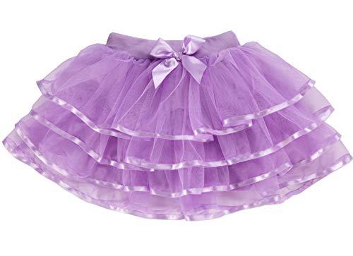 Tortoise & Rabbit Little Girls and Big Girls Tulle Tutu Skirt (4T-S(4), Purple)