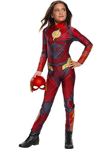 Rubie's Justice League Movie Child's The Flash Jumpsuit Costume, Medium