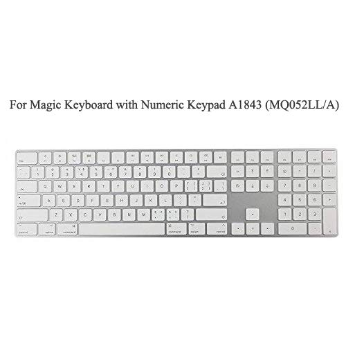 COOSKIN TPU Keyboard Cover Protector for 2017 Released Apple Magic Keyboard with Numeric Keypad US Layout A1843