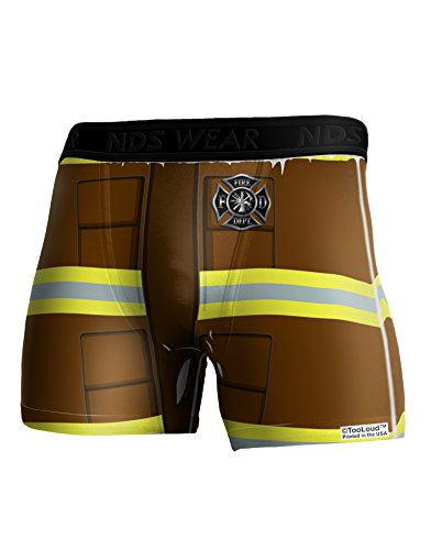 TooLoud Firefighter Brown AOP Boxer Brief Dual Sided Medium All Over Print
