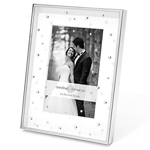 Swing Design Celia Picture Frame, 4 by 6-Inch, Silver - Frame Picture Diamond Plate