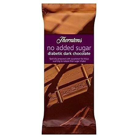 Thorntons No Added Sugar Dark Chocolate Bar 75g Amazonco