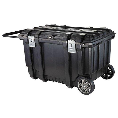 (Husky 209261 37 in. Mobile Job Box Utility Cart Black)