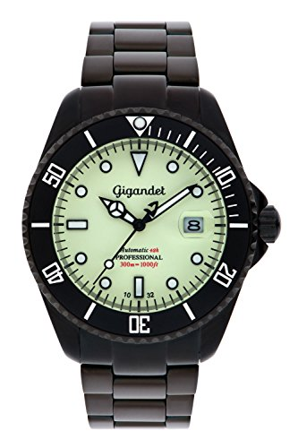 Gigandet Men's Automatic Pro Diver Watch Sea Ground Analog Stainless Steel 30atm Luminous Green Black G2-012
