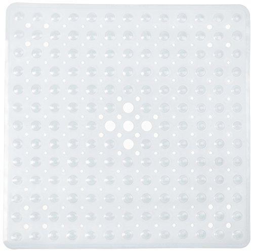 (FeschDesign Shower Mat Non Slip | Non-Toxic (BPA-Free) & Anti-Bacterial | Bath Tub Mat with Original GripTight (TM) Technology & Powerful Suction Cups | 21