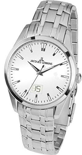 Jacques Lemans Liverpool – Reloj de pulsera analógico para mujer cuarzo acero inoxidable 1 – 1828e