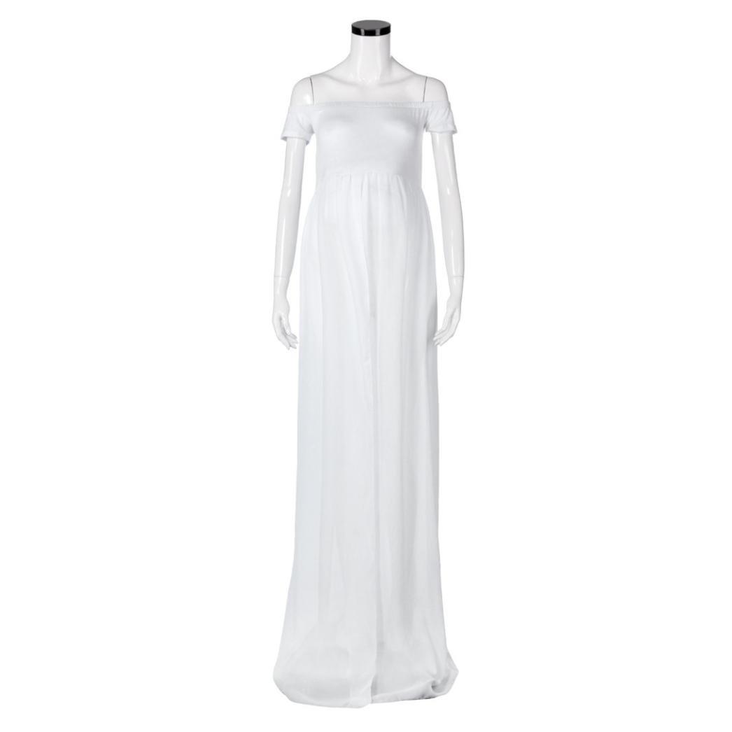 5c145d317 K-youth® Vestidos Mujer Fiesta Largos Boda Mujer Embarazada Encaje Sin  Tirantes Vestido de. Ampliar imagen
