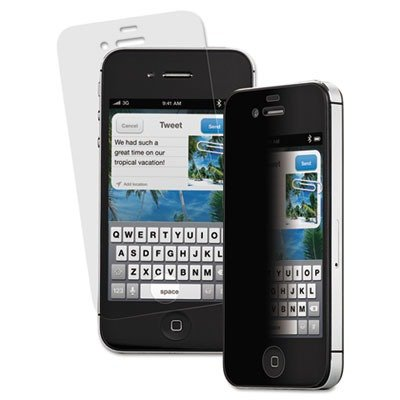 3M/COMMERCIAL TAPE DIV PFIPHONE4S Privacy Screen Protection Film for iPhone 4/4S, Portrait (Iphone 4s Privacy Screen 3m)