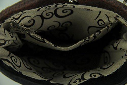 Cross Vinyl Black Embroidered Southwest Style Body Mini Purse Skull Womens Steer Crossbody Bags r51ZOrqw