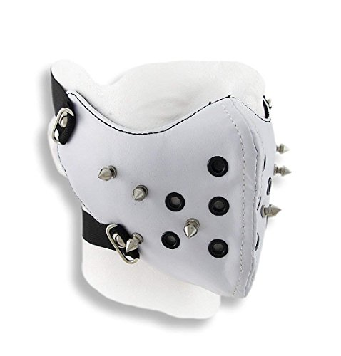 Aquiver Auto Parts New Vinyl Spiked Half Face Mask Facemask for Outdoor Sports or Riding a Motorcycle-Wind Protector