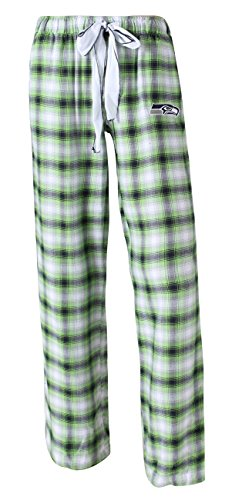 (Concepts Sport Seattle Seahawks NFL Women's Forge Dual Blend Plaid Flannel Sleep Pants)
