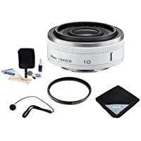Nikon 1 10mm f/2.8 Lens Bundle for Mirrorless Camera. Value Kit with Accessories