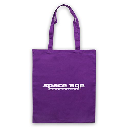Space Age Recordings® Record Label Logo Official Licensed Bolso Morado