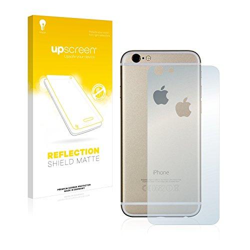 upscreen Scratch Shield Pellicola Protettiva Opaca Apple iPhone 6S Posteriore (totale + LogoCut) Protezione Schermo – Antiriflesso, Anti-Impronte