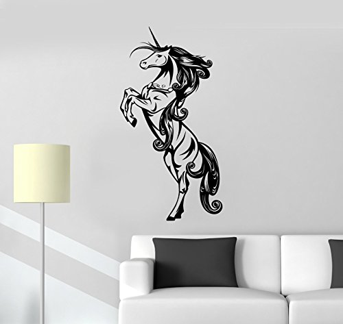 Vinyl Decal Unicorn Myth Girl Children's Room Decoration Wall Stickers (ig2121)