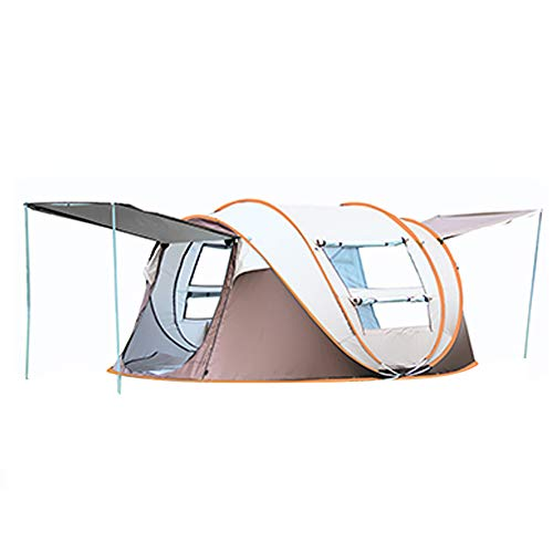 幸運なことにオフェンス影のあるポップアップテント、自動的にテントを開く、2-3- 4-7人、防水家族キャンプテント、スポーツと野外活動、防水キャンプとハイキングテント、玄関を持っていないFyxd (色 : AGray)