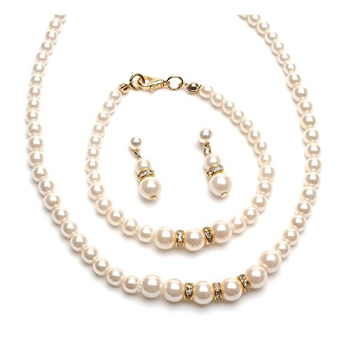 Ivory Pearl Necklace (Pearl Necklace Set Fashion Jewelry)