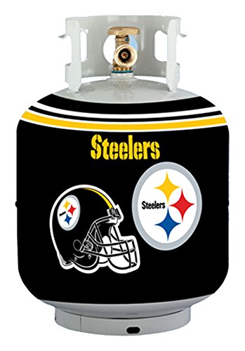 NFL Pittsburgh Steelers Propane Tank Cover/5 Gal. Water Cooler Cover, Black -