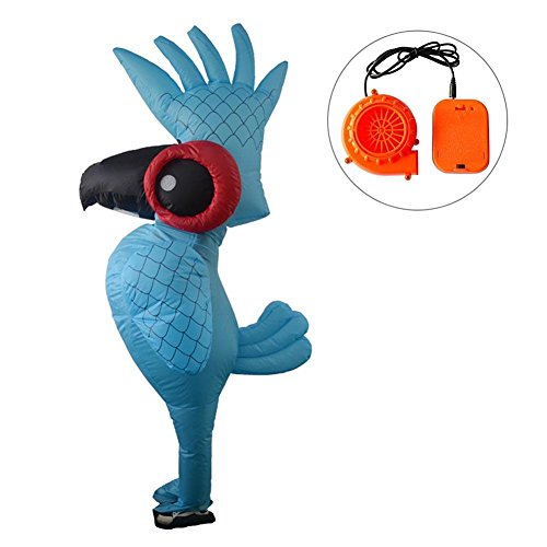 Inflatable Blow up Adult Parrot Fancy Dress Unisex Innovative Toy Halloween Christmas Cosplay Costume Inflatable Party Spoofing Costume Props