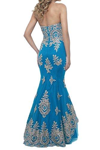 Partykleid Lang Abendkleider Tuell Stickrei Herzform Promkleid Meerjungfrau Fuchsia Damen Ivydressing UTfx00