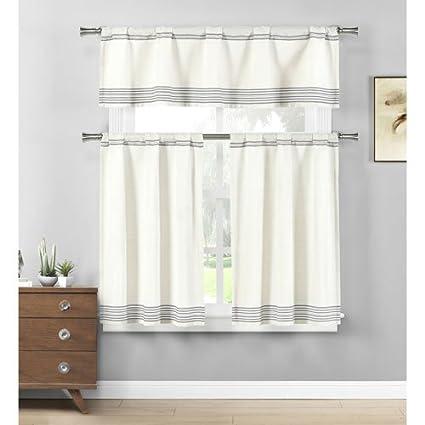 amazon com home maison wilmont striped cotton blend textured rh amazon com